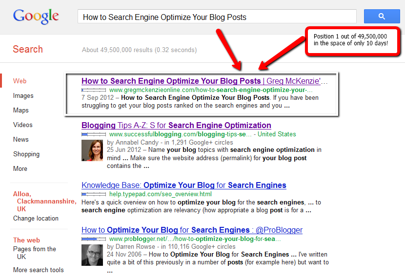 This Is My How to Search Engine Optimize Your Blog Posts 10 Day Update