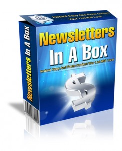 Get My Newsletter In A Box